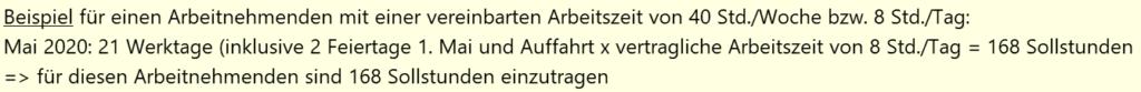 Kurzarbeit Schweiz KAE-Abrechnung Sollstunden