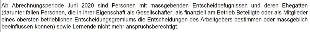 Kurzarbeit Schweiz KAE-Abrechnung Erklärungen